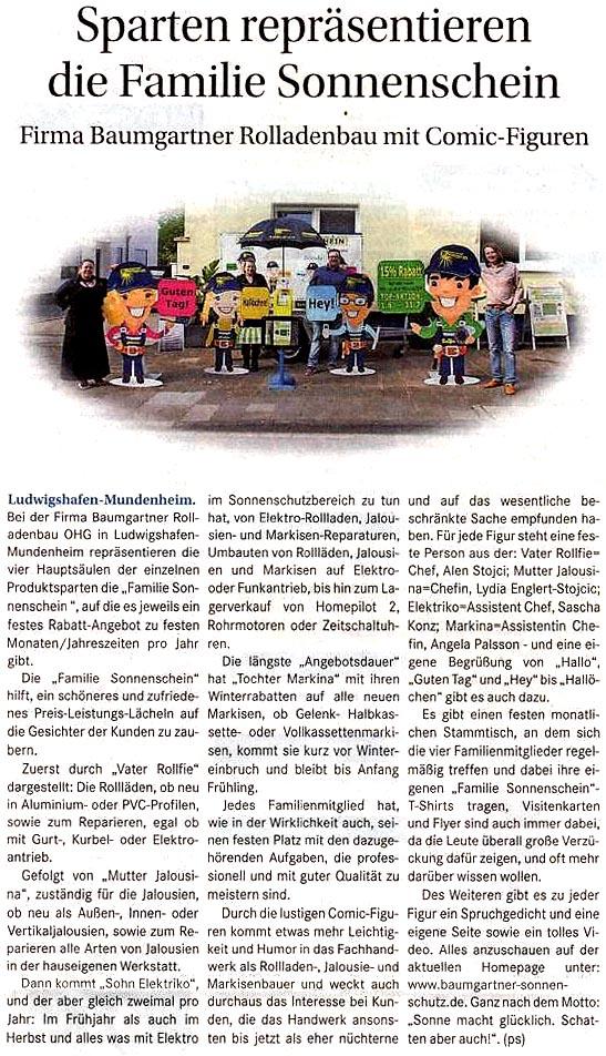 Bericht aus der Wochenblatt 06.07.2016
