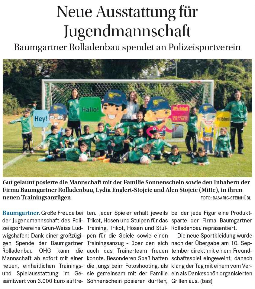 Bericht aus der Wochenblatt 14.09.2016
