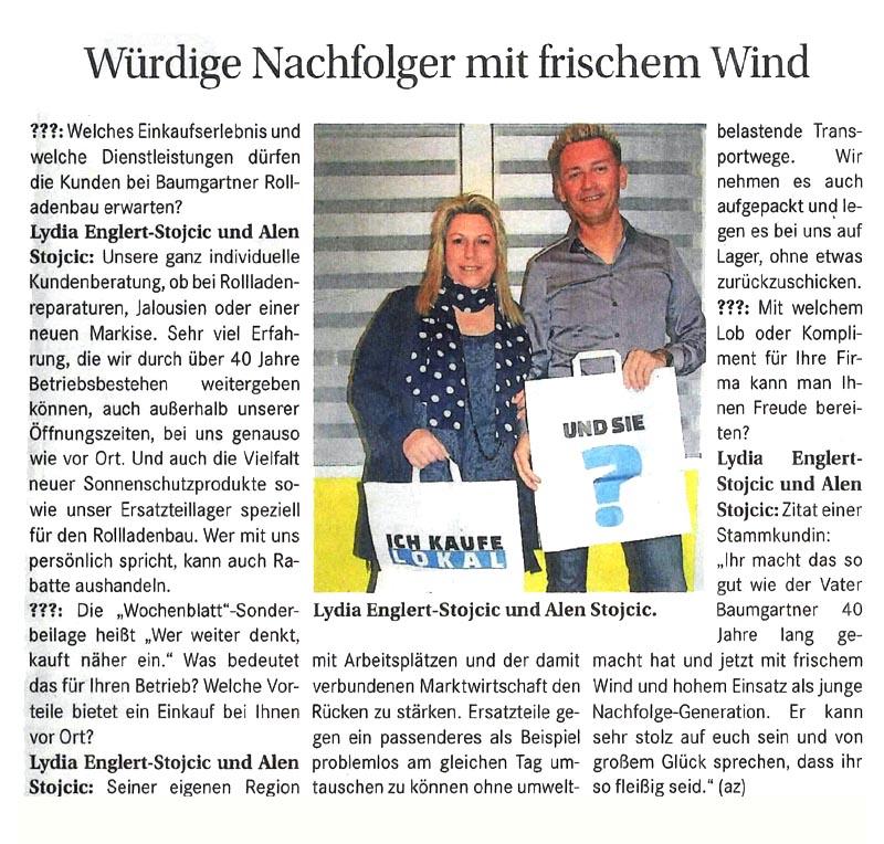 Zeitungsartikel Wochenblatt