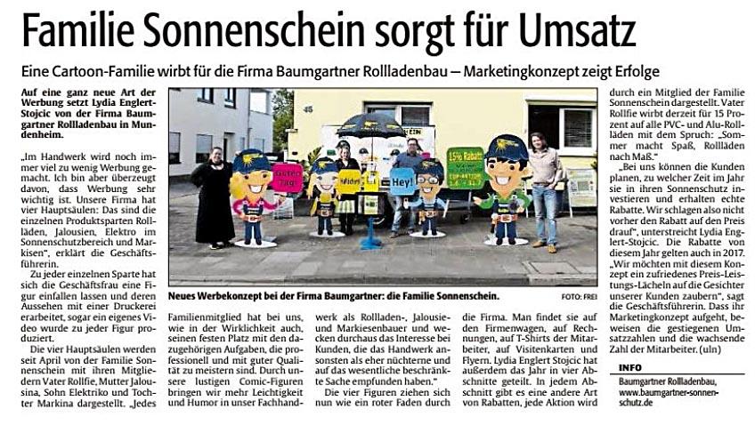 Bericht aus der Rheinpfalz 08.06.2016